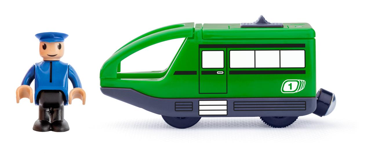 Moderní elektrická mašinka - zelená