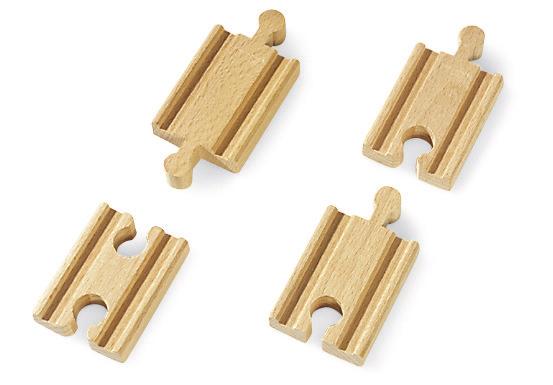 Mini koleje rovné, spojky, 54 mm, 4 ks