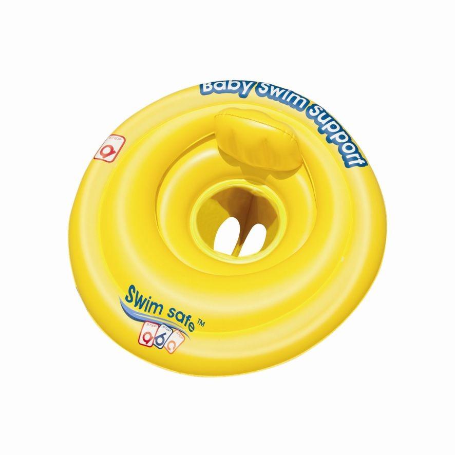 Nafukovací baby sedací kruh s opěrkou, průměr 69cm