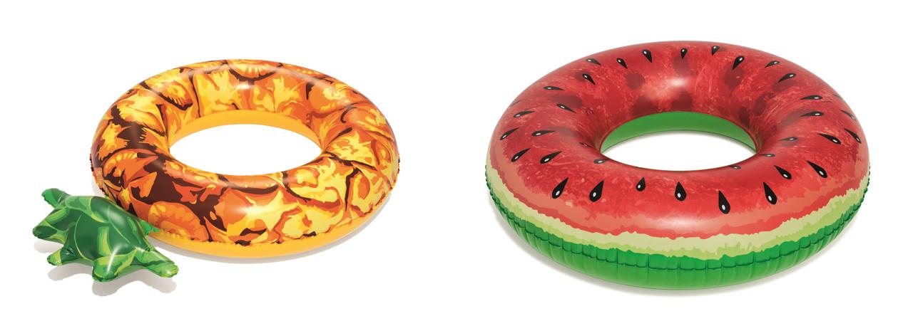 SET Nafukovací kruh - ovoce