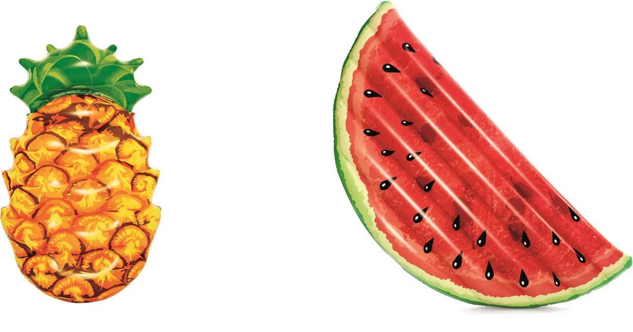 Nafukovací ovoce - mix (meloun 174x89cm, ananas 174x96cm)