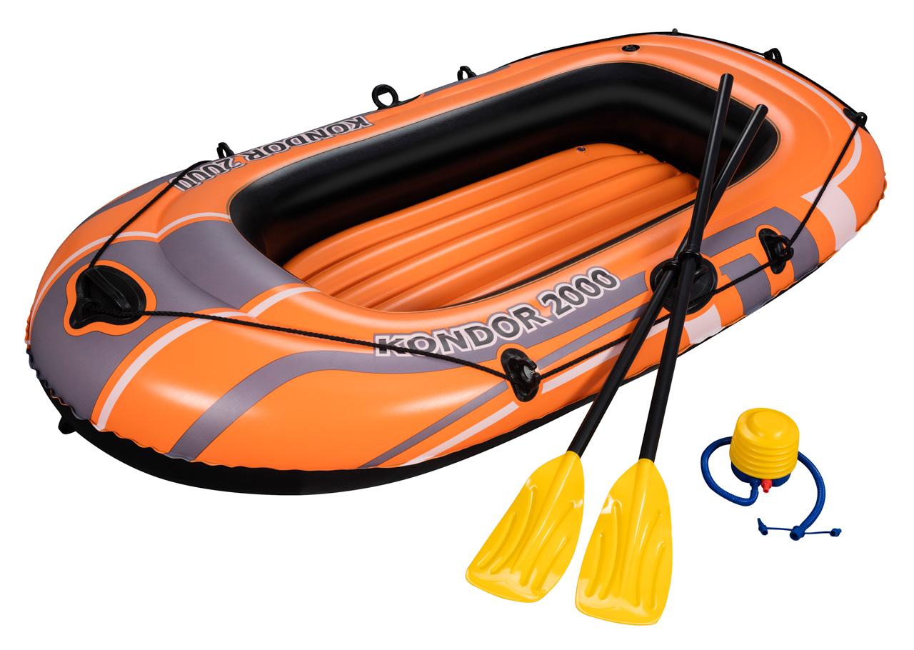 Nafukovací  člun s pádly a nafukovací pumpou