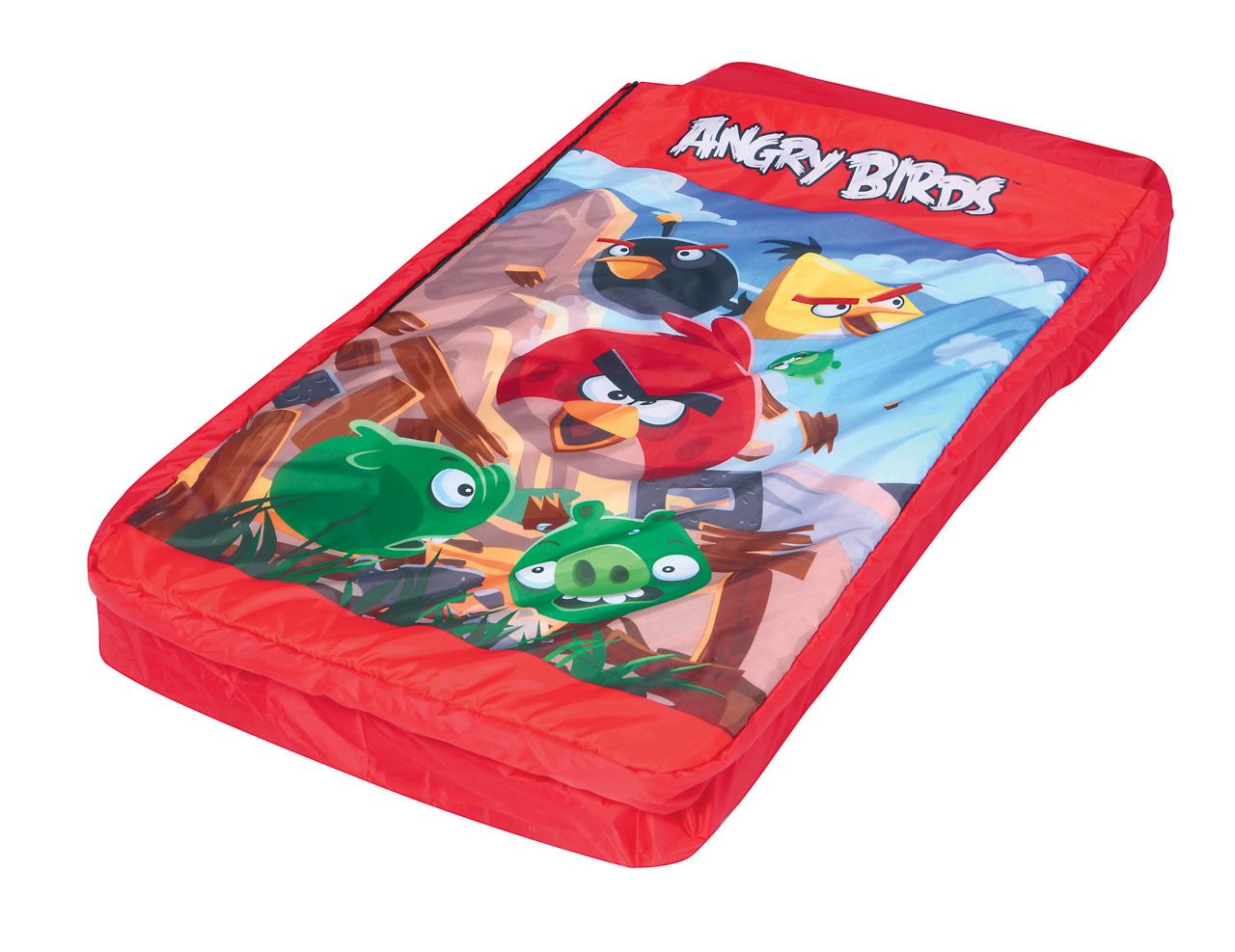2 in 1 Nafukovací lehátko se spacákem Angry Birds - 132 x 76 x 20cm