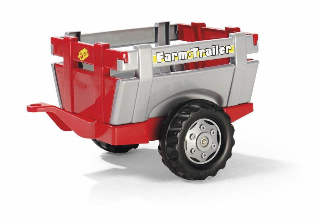 Vlečka za traktor 1osá ´´Farm Trailer´´- stříbročervená
