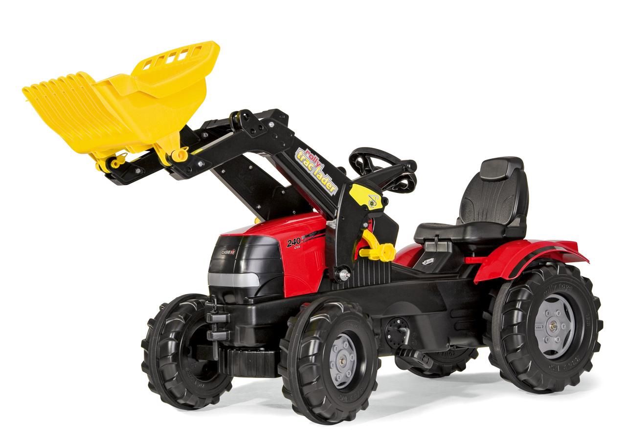 Šlapací traktor Farmtrac Case Puma s předním nakladačem