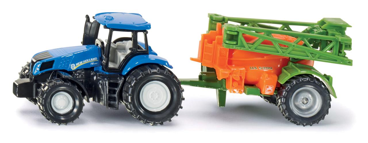 SIKU Blister - Traktor s přívěsem na rozprašování hnojiva