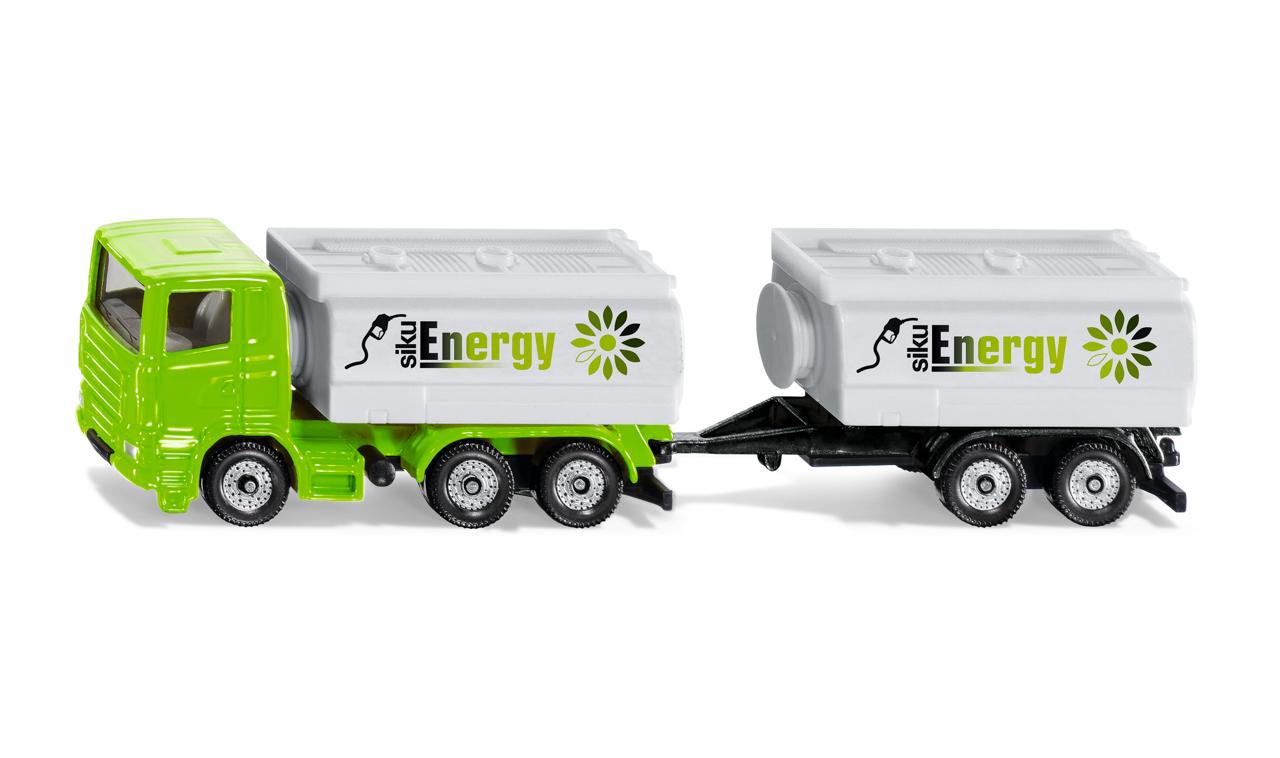 SIKU Super - kamion s cisternou a vlekem