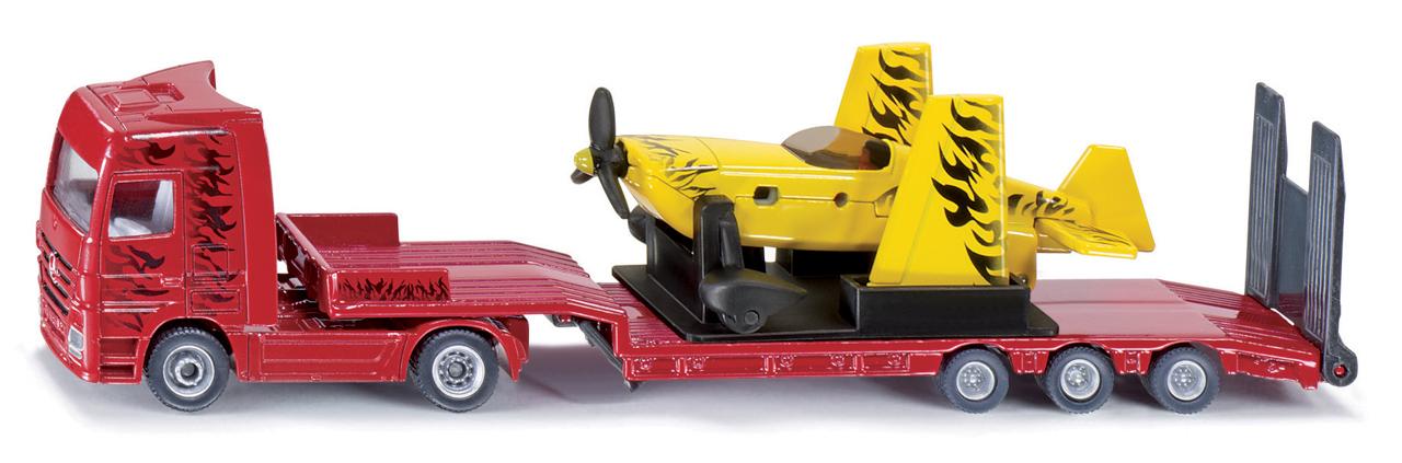SIKU Super - Kamion s vlekem a sportovním letadlem, 1:87