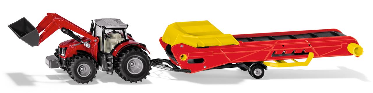 SIKU Farmer - Traktor s dopravníkem
