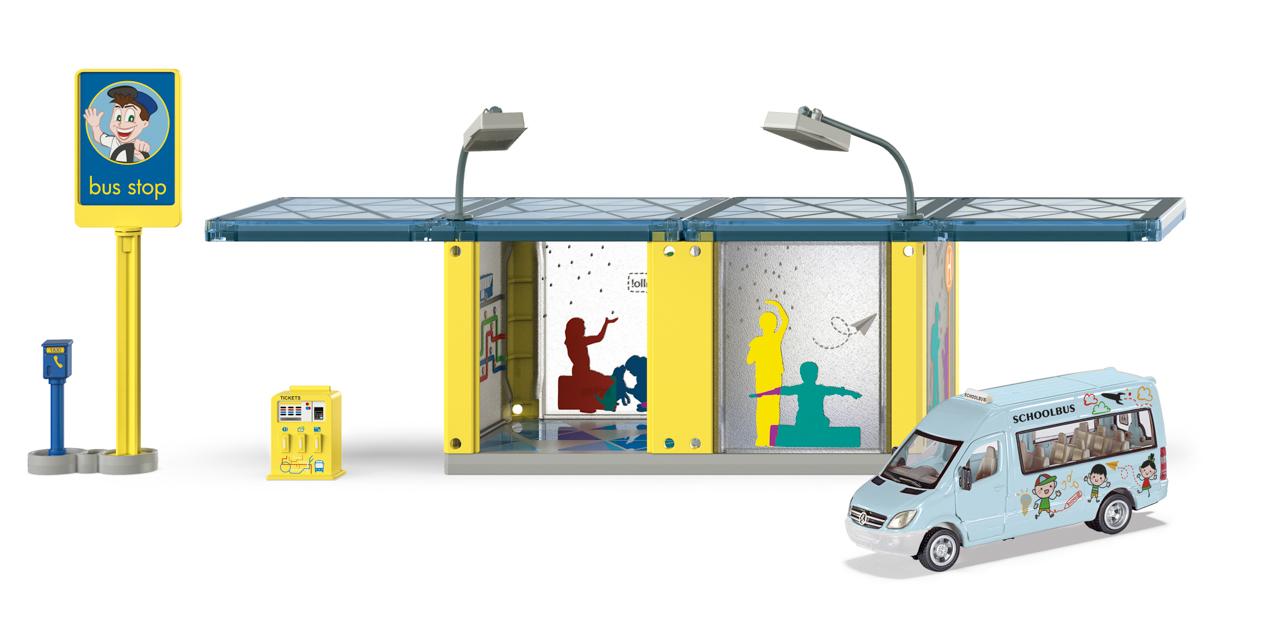 SIKU World - autobusová zastávka