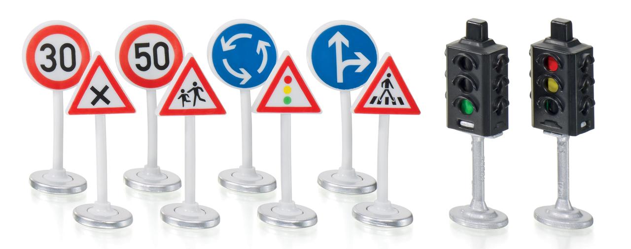 SIKU World - Semafory s dopravními značkami