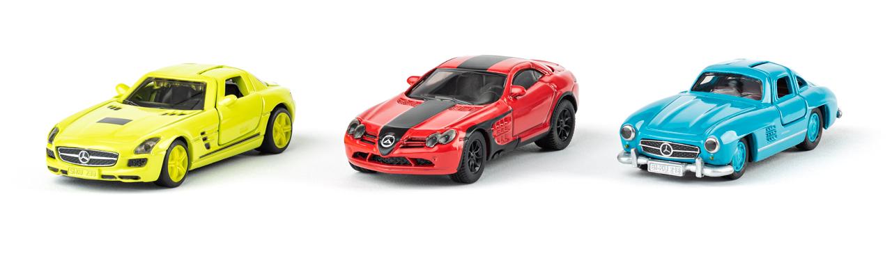 SIKU Super - Mercedes set barevný, 3ks