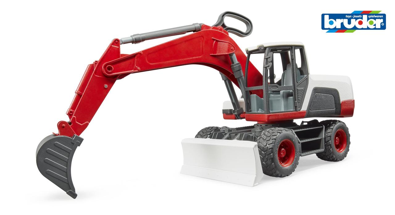 Konstrukční vozy - bagr s radlicí a předním nakladačem