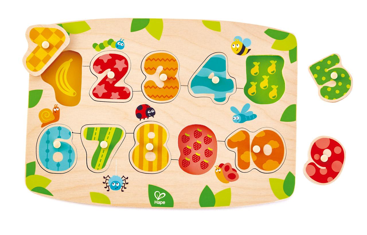 Puzzle na desce - Čísla