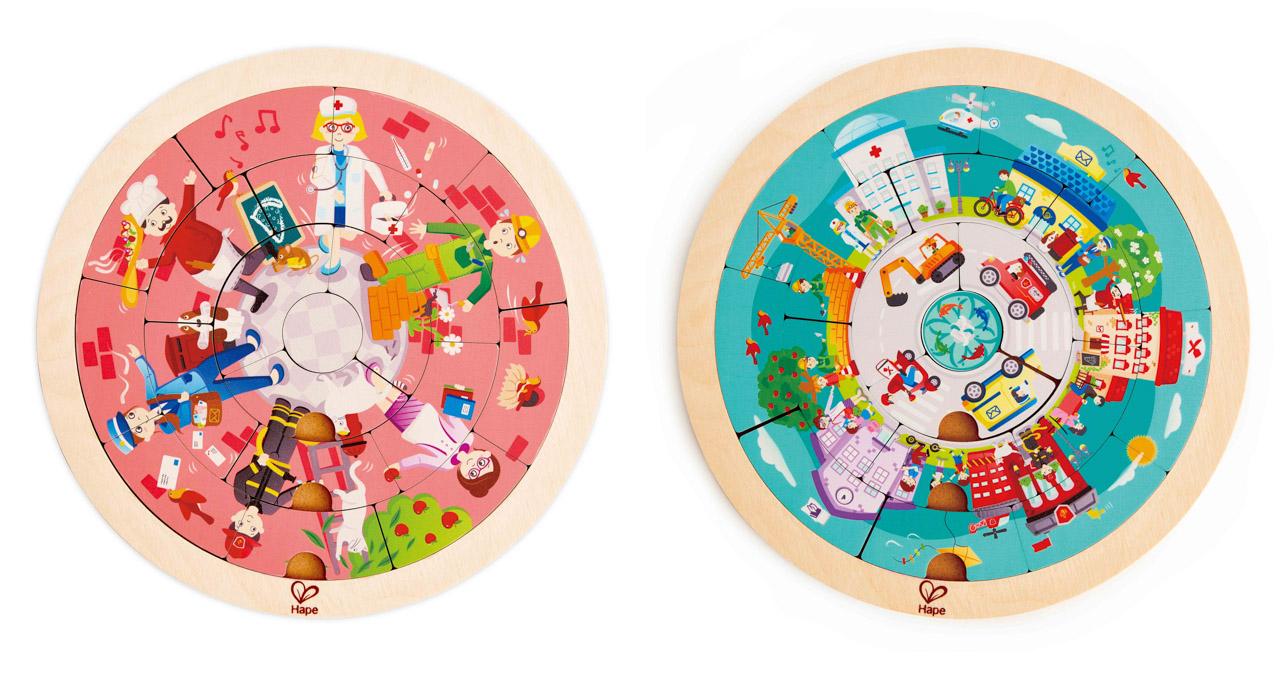 Puzzle-Povolání v kruhu