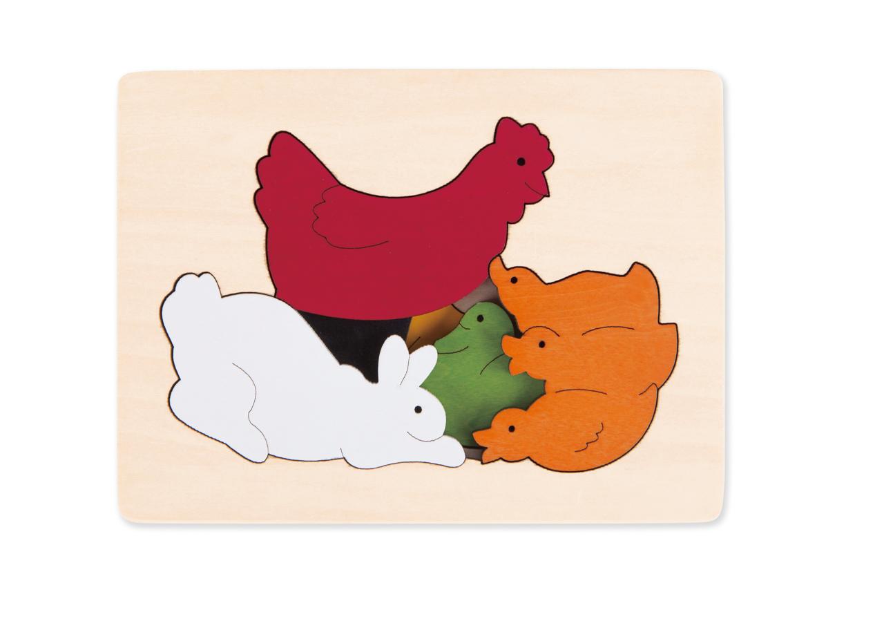 Puzzle-Kuřátko a kamarádi