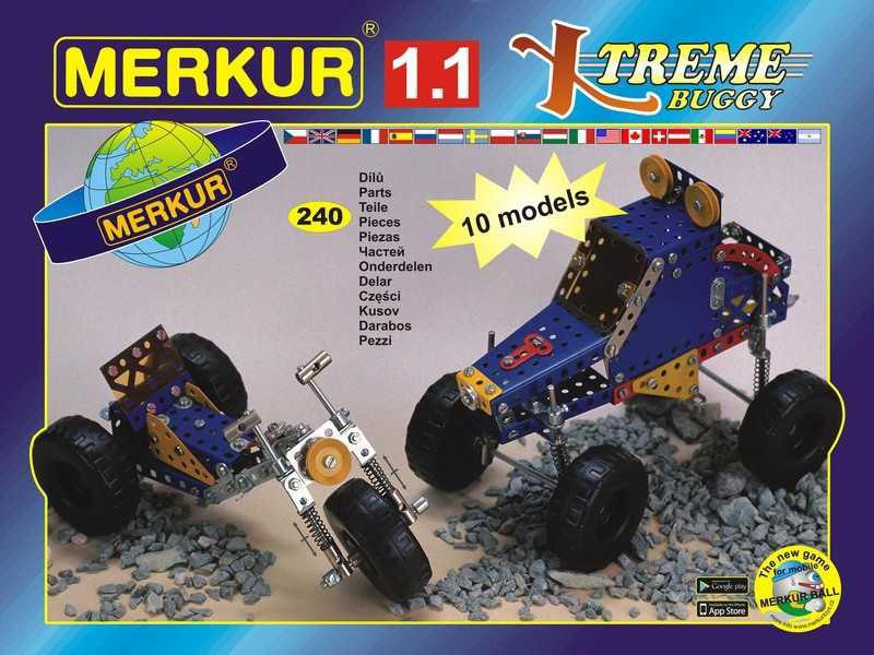Merkur 1.1 Stavebnice vozidel, 240 dílů, 10 modelů