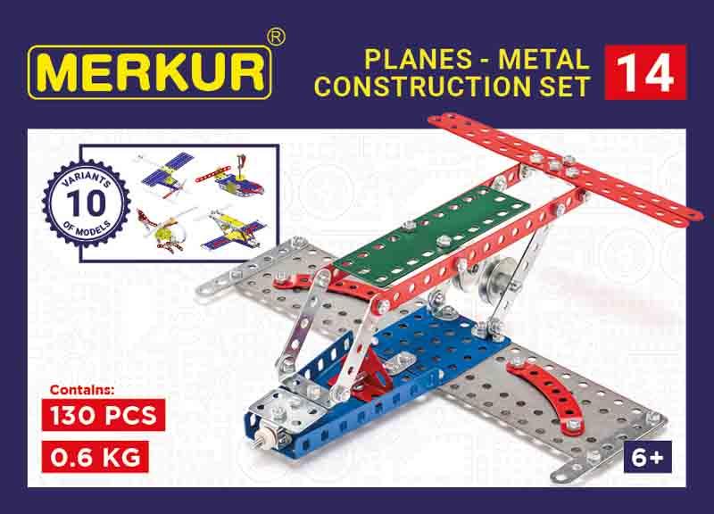 Merkur 014 Letadlo, 119 dílů, 10 modelů
