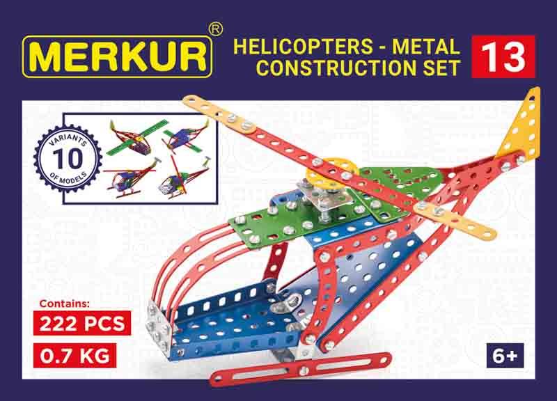 Merkur 013 Vrtulník, 222 dílů, 10 modelů