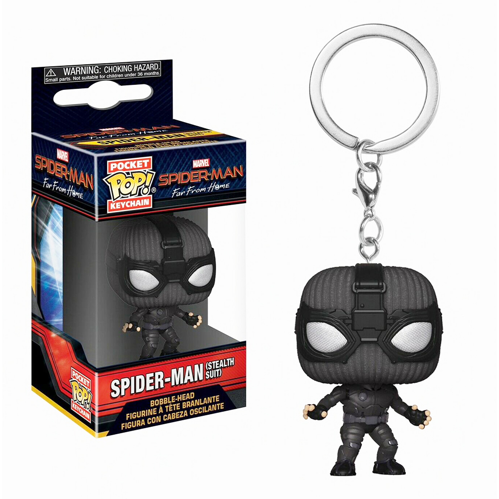 Funko Pop Keychain: Spider-Man Far From Home - Spider-Man (Stealth Suit)