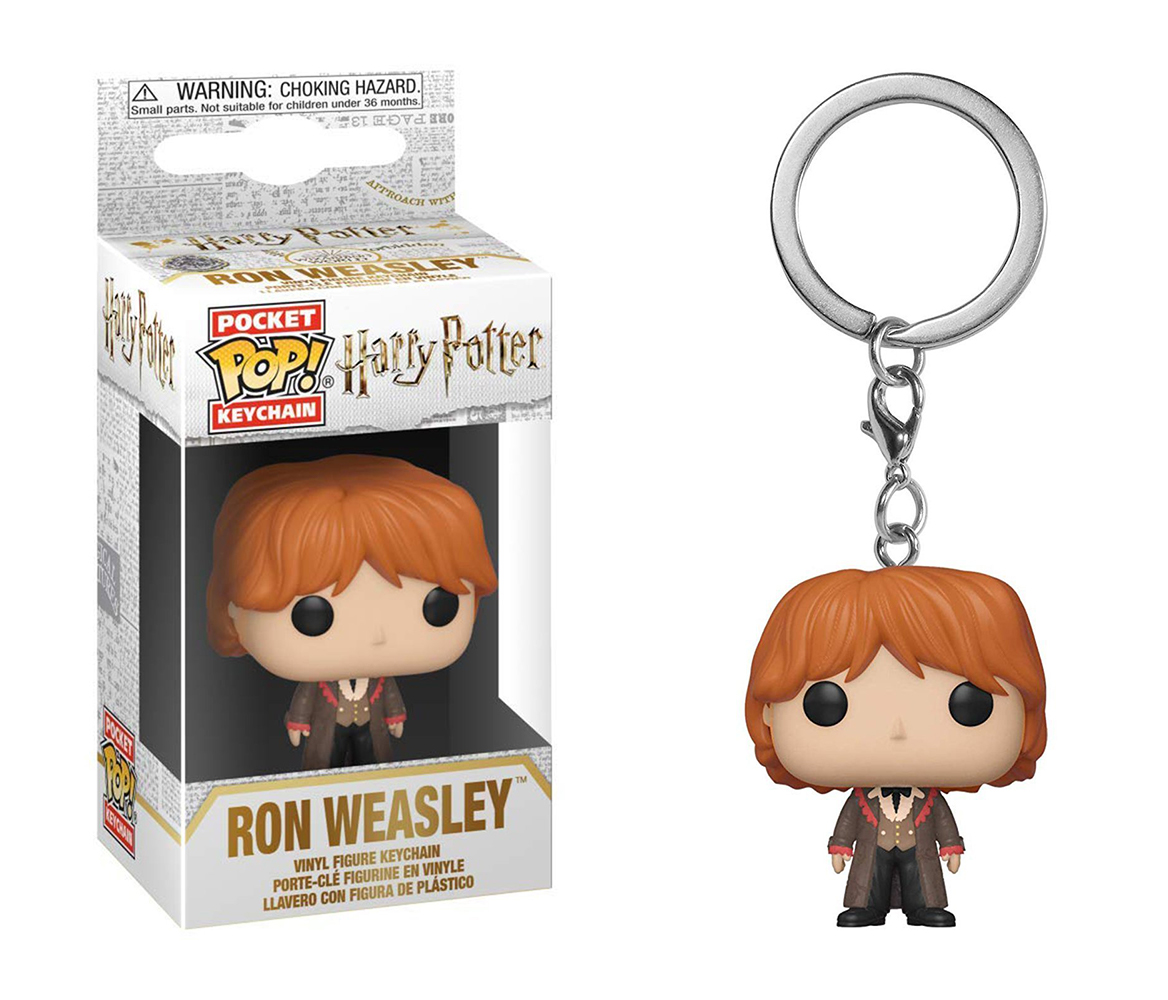Funko POP Keychain: Harry Potter - Ron (Yule)