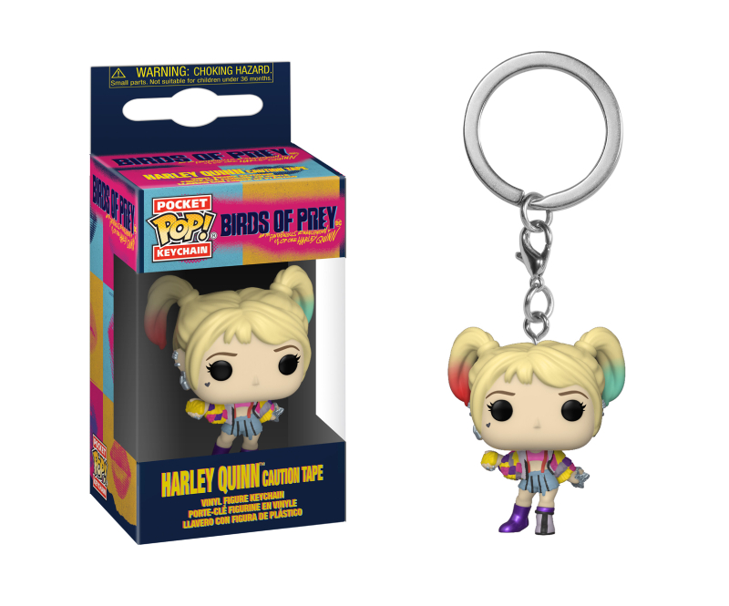 Funko Pop Keychain: Birds of Prey - Harley Quinn (Caution Tape)