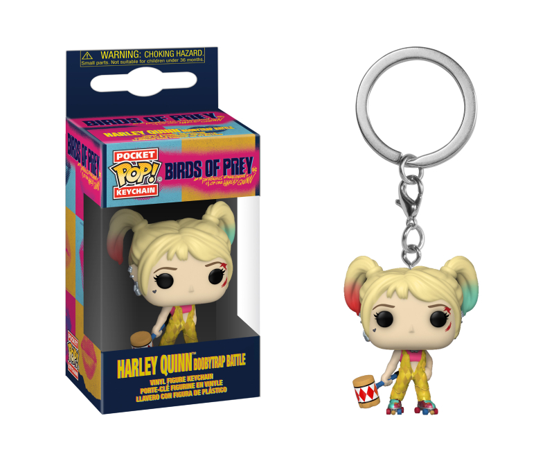 Funko Pop Keychain: Birds of Prey - Harley Quinn (Boobytrap Battle)