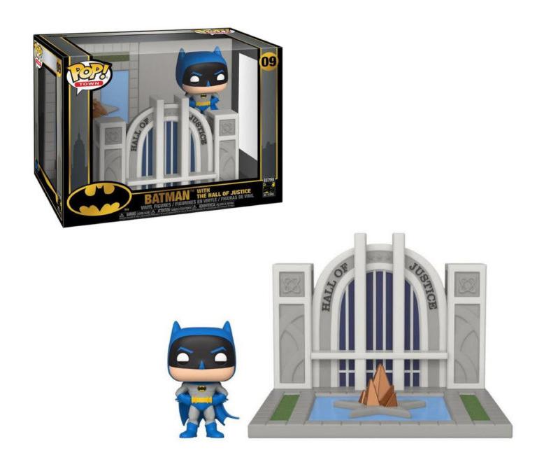 Funko POP DC Towns: Batman 80th - Hall of Justice w/Batman