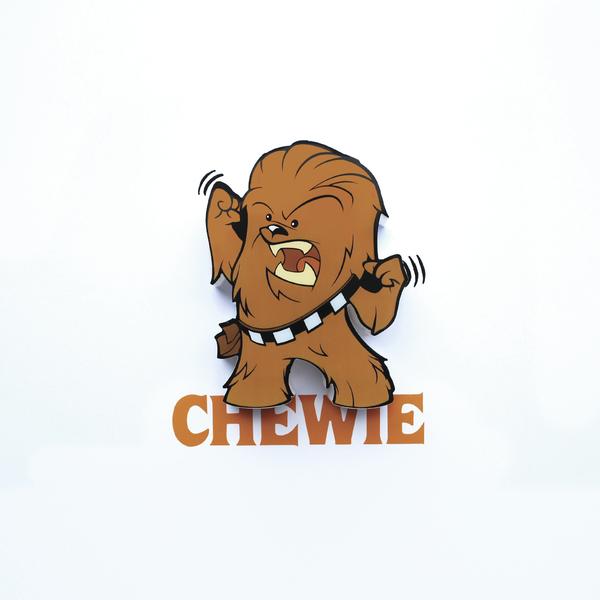 3D Mini světlo EP7 - Star Wars Chewie