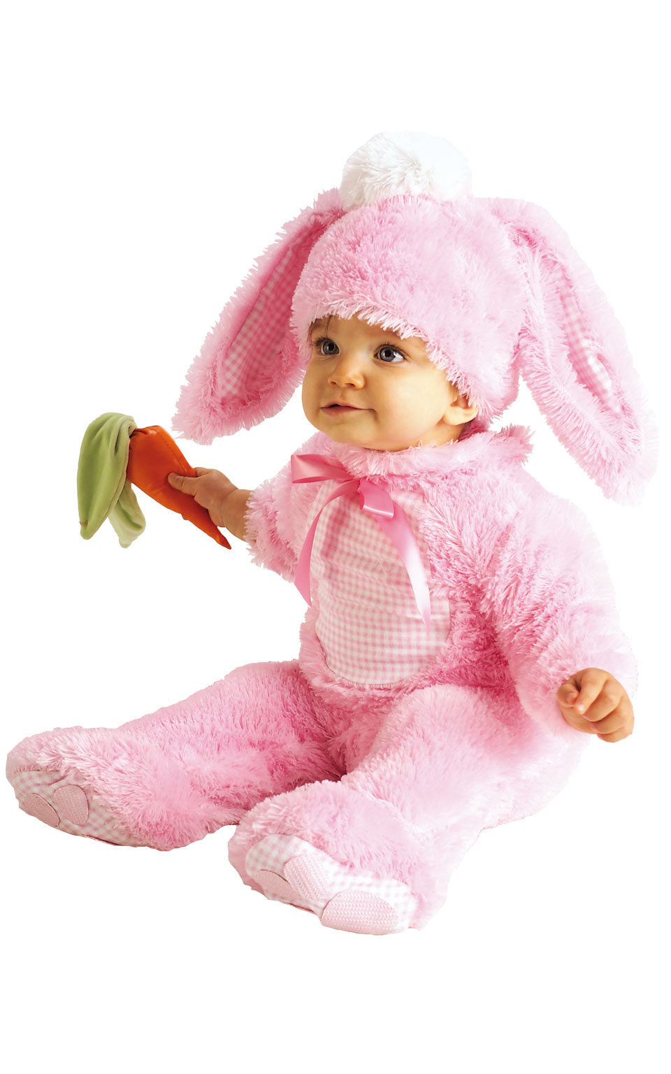 Baby kostým - růžový králíček (6-12m)